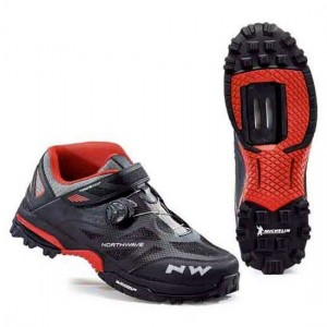 BUTY NORTHWAVE ENDURO MID BLACK RED