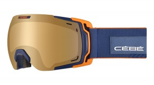 Gogle Cebe FATEFUL MATT DARK BLUE ORANGE NXT VARIO PERFO AMBER FLASH MIRROR CAT.1-3